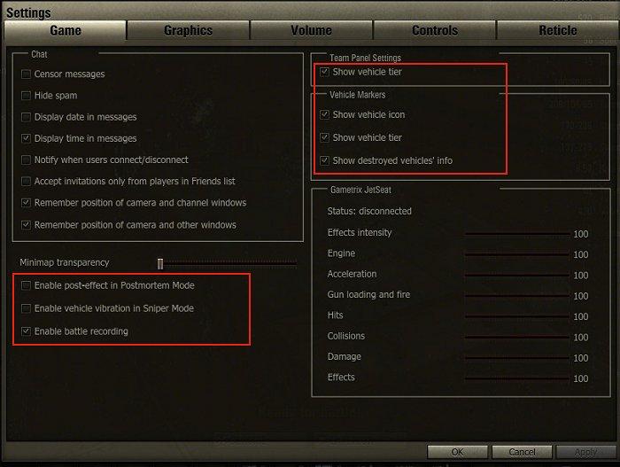 Optimizing Game Settings